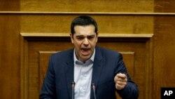 Le Premier ministre grce, Alexis Tsipras, rejettant la prolongation du programme d'aide à la Grèce (AP)