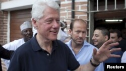 Former President Clinton during 2011 Africa visit, Lagos, Nigeria, March 2011.