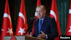 Le président Recep Tayyip Erdogan à Ankara le 13 août 2018.