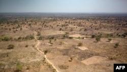 Une photo prise près de Paoua, dans le nord-ouest de la République centrafricaine, préfecture de Ouham-Pende, le 28 décembre 2017.