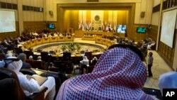 د عرب لیگ د خارجه وزیرانو د غونډې صدارت د سعودي عرب خارجه وزیر عادل الجبیر کولو چې د ناستې ورسته یې خبریالانو ته وویل عرب سفارتکاران به وس خپله مقدمه ملگرو ملتونو ته وړي او کوښښ به کوي چې خپل قراردادونه په سیاسي توگه په عملي گامونو کې بدل کړي