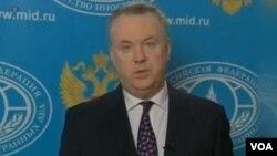 Phát ngôn viên Bộ Ngoại giao Nga Alexander Lukashevich đổ lỗi cho Mỹ.