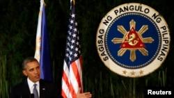 美国总统奥巴马在菲律宾进行国事访问