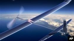 Le drone Solara 50 de la société Titan Aerospace, un fabricant de drones à énergie solaire, utilisé par Facebook.