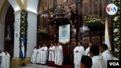 Nicaragua actividad religiosa. (Foto Daliana Ocaña).