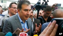 Встреча экс-президента Грузии Михаила Саакашвили в Киеве
