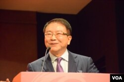 台灣民進黨前立法委員洪奇昌表示,明年台灣總統大選民進黨候選人蔡英文當選應該大勢底定。(美國之音湯惠芸)
