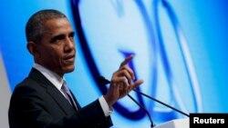 اوباما: امریکا هرگز درباره دین پناهجویان سوال نمیکند.