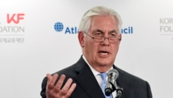 Secretary of State Rex Tillerson speaks at the 2017 Atlantic Council-Korea Foundation Forum in Washington