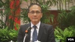 台灣行政院長林全(美國之音楊明拍攝)