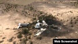 پرائیویٹ جیٹ طیارے کا ملبہ میکسیکو کے ایک ویران مقام پر بکھرا پڑا ہے۔ طیارہ طوفان میں پھنسنے سے اپنا کنٹرول کھو بیٹھا تھا۔ 6 مئی 2019