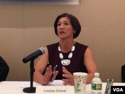 美國國家民主基金會東亞總裁路易莎·格雷夫 (美國之音鍾辰芳拍攝)
