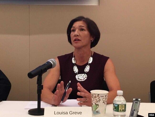 美國國家民主基金會東亞總裁路易莎·格雷夫(美國之音鐘辰芳拍攝)