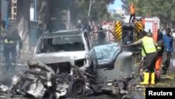 Somalia: imodoka ya Al-Shabaab itezwemwo ibombe yaturikiye imbere y'inzu y'uburiro iri i Mogadishu