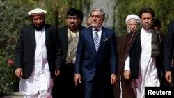 عبدالله عبدالله رییس حکومت اجراییه و معاونین رییس اجراییه (ارشیف)