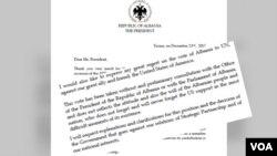 President Ilir Meta i shkruan presidentit amerikan Donald Trump
