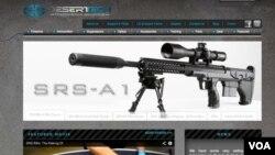 A sniper rifle by Desert Tech company