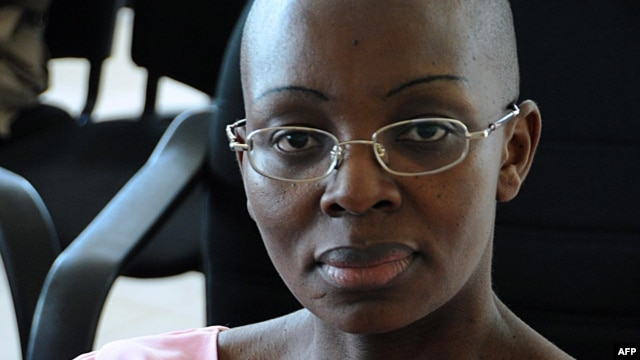 A file picture taken on November 10, 2011 shows Rwandan opposition leader Victoire Ingabire at the Rwandan High Court in Kigali.
