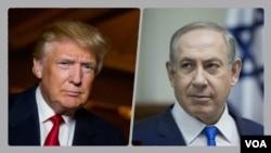 Donald Trump - Benjanin Netanyahu.