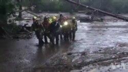山体滑坡13人丧生 洛杉矶救援队仍努力搜救