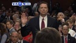 Manchetes Americanas 8 Junho 2017: Ex-director do FBI depôs no Congresso