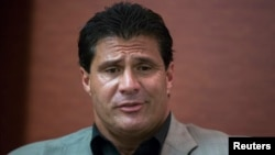 FILE - Former Major League Baseball player Jose Canseco.