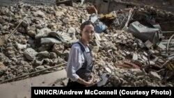 Анджеліна Джолі в неділю відвідала табір сирійських біженців на півночі Іраку.