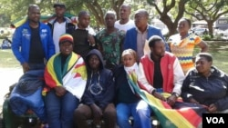 FILE: The protesters at Africa Unity Square in Harare where they wanted to camp for 16 days.