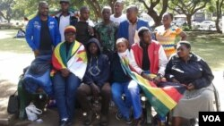 Some of the protesters camping at Africa Unity Square in Harare.
