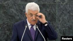 巴勒斯坦权力机构主席阿巴斯9月26日在联合国大会上。
