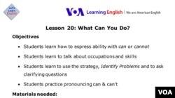Lesson Plan - Lesson 20