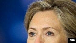 美国国务卿克林顿周二回答有关阿米里的问题
