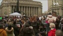 纽约民众集会 抗议歧视亚裔