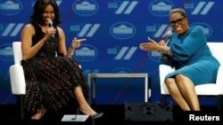 Мишель Обама с Опрой Уинфри