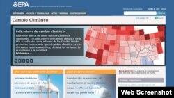 Entre otras cosas, el website desglosa el Plan de Acción Climático del Presidente Obama del 25 de junio de 2013