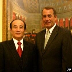 台湾立法院长王金平跟美国国会众议院议长贝纳见面