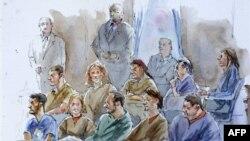 Разоблаченные российские шпионы на суде в Нью-Йорке. Июнь 2010г.
