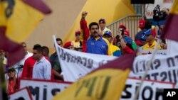 Nicolás Maduro, en el Día del Trabajo. Uno de sus escoltas fue asesinado la madrugada del domingo.