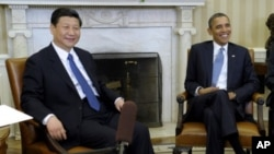 習近平2011年訪美時在白宮晤奧巴馬