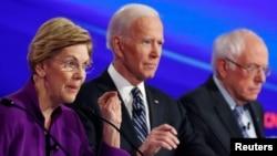 Элизабет Уоррен, Джо Байден и Берни Сандерс - лидеры рейтинга предпочтений среди избирателей-демократов