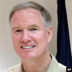 美国太平洋舰队司令沃尔施海军上将1月17日在夏威夷珍珠港接受媒体采访