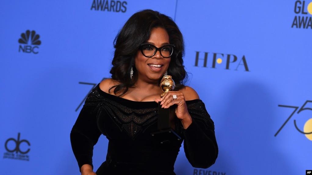 """Oprah Winfrey, 63 ans, a déploré """"une culture brisée par des hommes puissants et brutaux""""."""