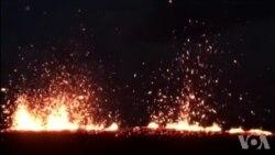 夏威夷火山继续喷发 政府警告飞机远离部分地区