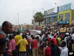 Imediações da Praça dos Congolenses, um dos troços do percurso da manifestação