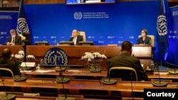 မွတ္တမ္းဓါတ္ပံု- ၂၀၂၁ ေမလ ၂၀ ရက္ေန႔က ILO အစည္းအေ၀းတခု