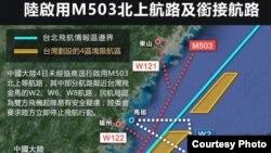 M503航線圖 (台灣中央社圖片)