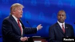 Donald Trump y Ben Carson encabezan las encuestas para la nominación presidencial por el Partido Republicano.