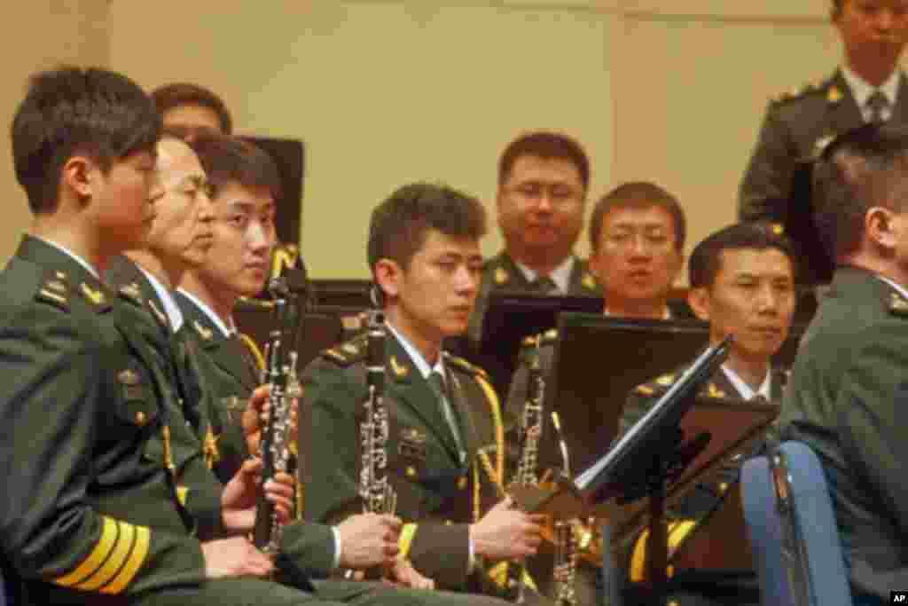 中国军乐队成员