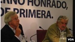 El vicepresidente electo, Danilo Astori, y el candidato electo, José Mujica, dijeron que habrá una muy buena relación entre el BID y Uruguay.