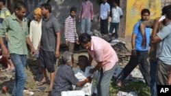 APTOPIX India Restaurant Explosion